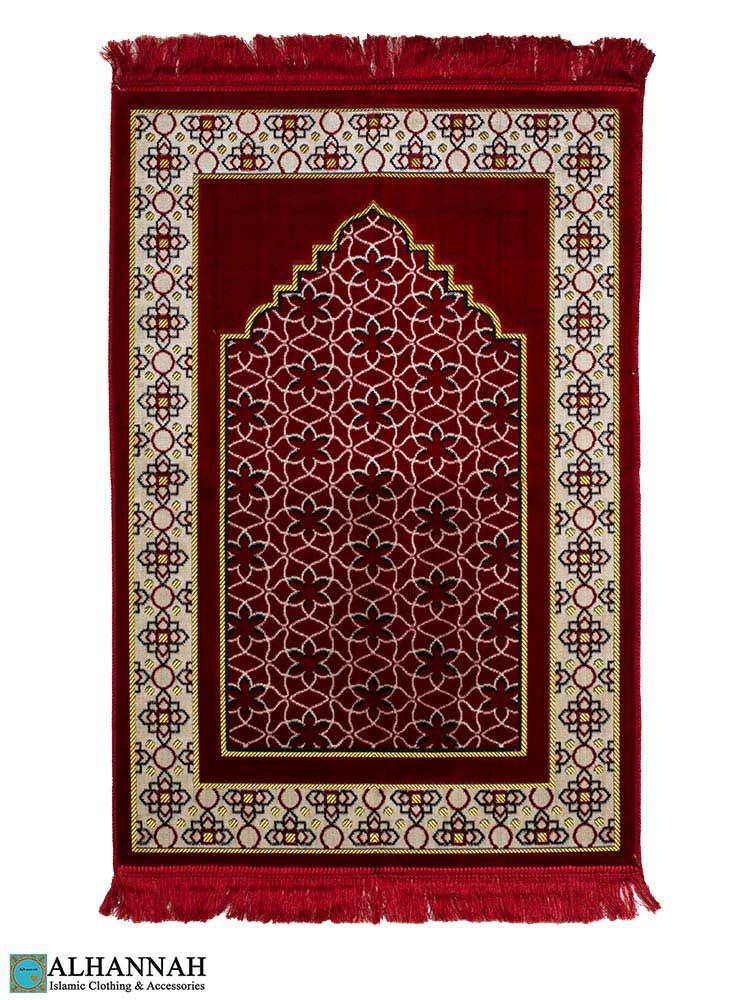 Prayer-Rug---Geo-Pattern-in-Red