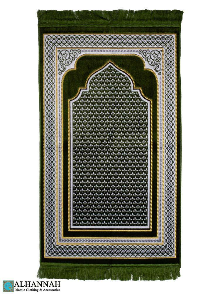 Prayer-Rug-with-Mihrab-Arch-&-Geo-Border---Pine