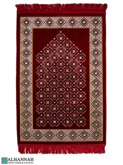 Turkish Prayer Rug in Red