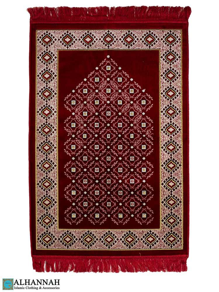 Turkish Prayer Rug in Red