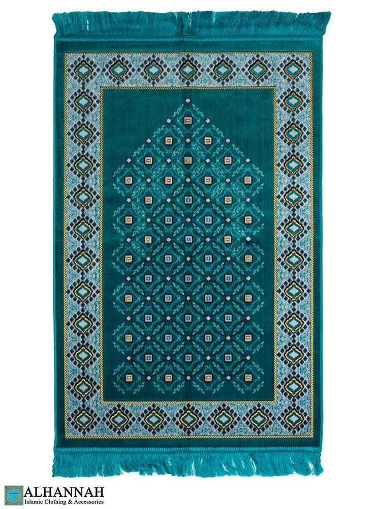 Turkish Prayer Rug in Teal