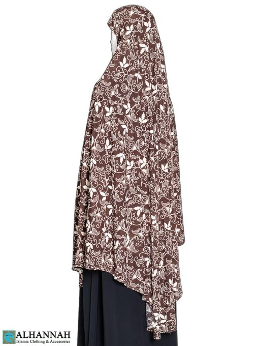 Extra Long Amirah Hijab Egyptian Lotus Print