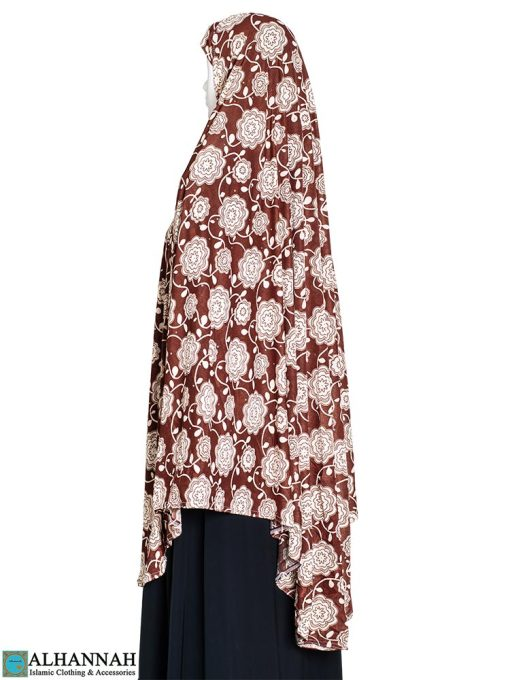 Extra Long Amirah Hijab in Cosmic Rose Print