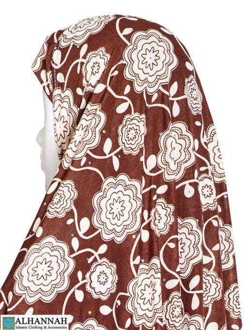 Extra Long Amirah Hijab in Cosmic Rose Print Close Up