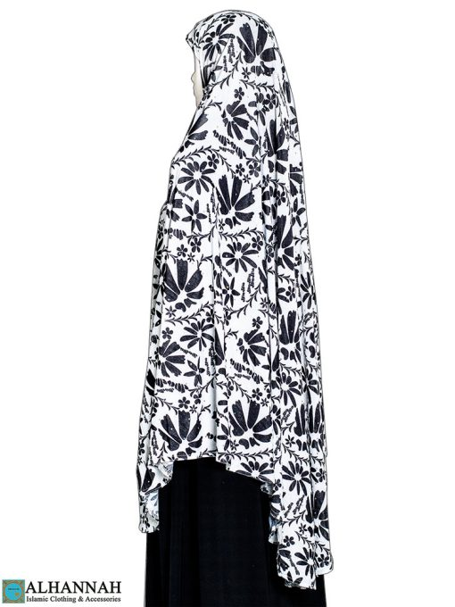 Extra Long Amirah Hijab in Floral Abstract Print