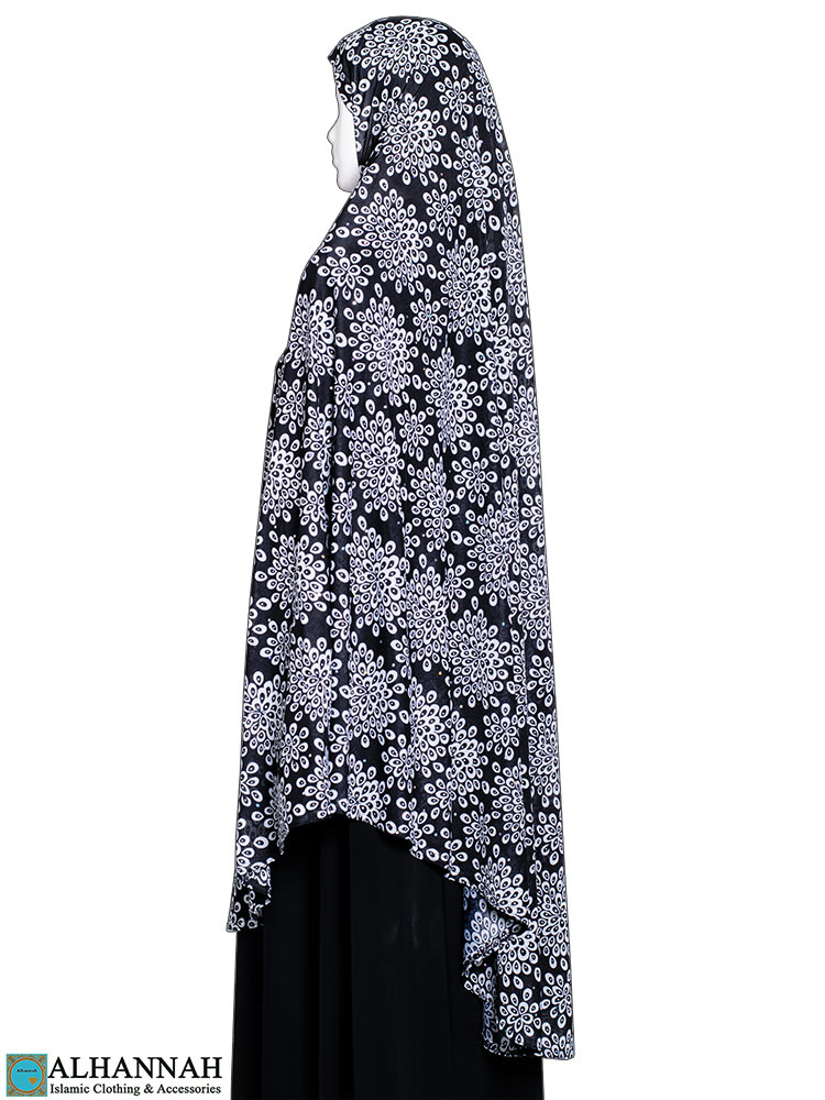 Extra Long Amirah Hijab in Floral Burst Print
