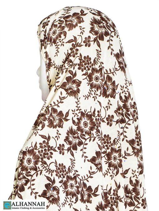 Extra Long Amirah Hijab Coco Damask Print Close Up