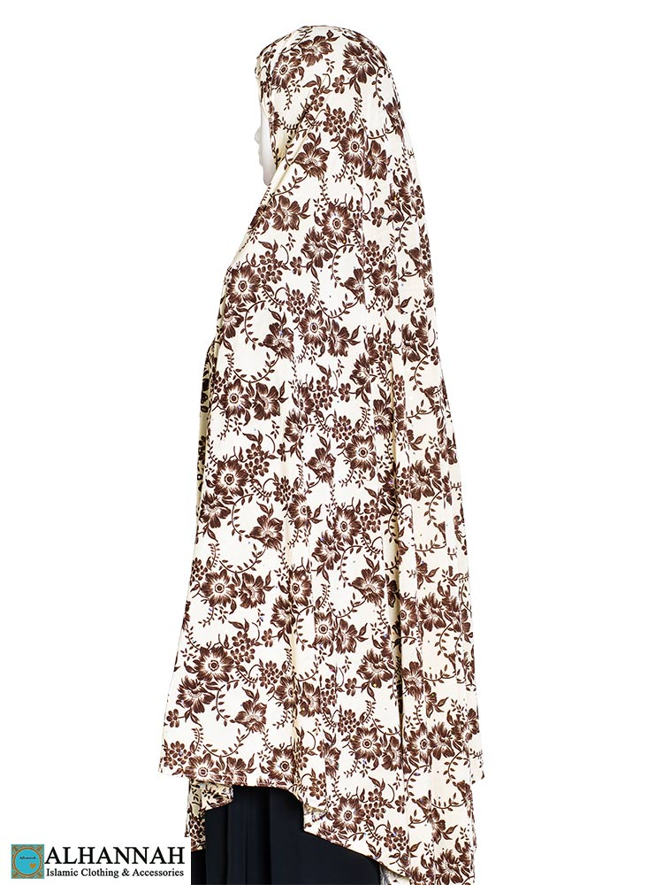 Extra Long Amirah Hijab Coco Damask Print