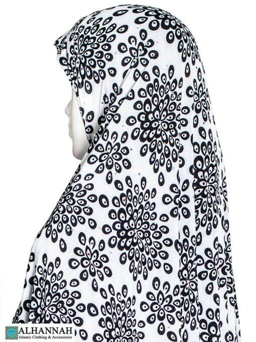 Extra Long Amirah Hijab Floral Burst Print Close Up