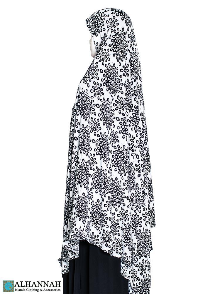 Extra Long Amirah Hijab Floral Burst Print