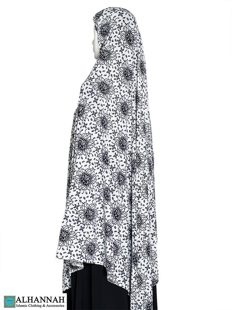 Extra Long Amirah Hijab Waterlily Print