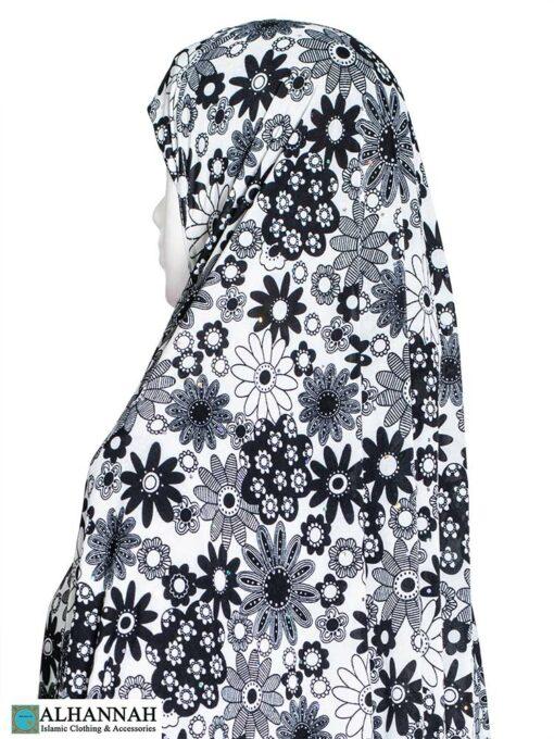 Extra Long Amirah Hijab in Retro Floral Close Up