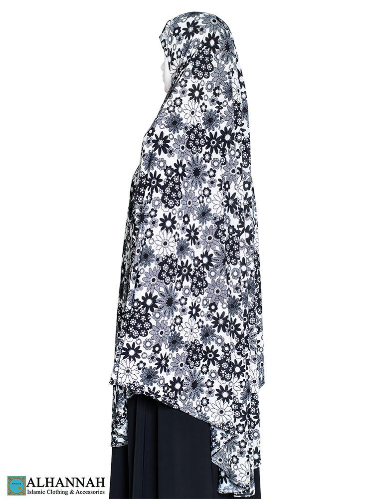 Extra Long Amirah Hijab in Retro Floral