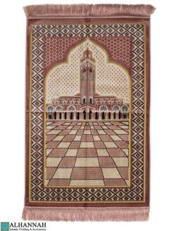 Prayer Rug Minaret Motif - Pink