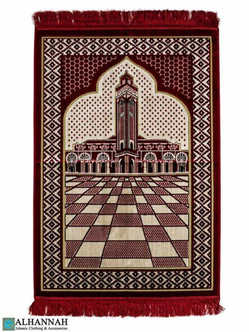 Prayer Rug Minaret Motif - Red