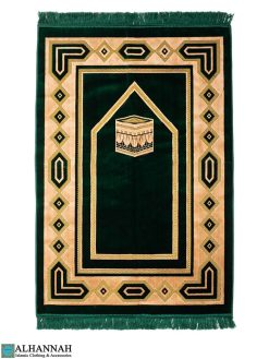 Prayer Rug with Kaaba-Emerald
