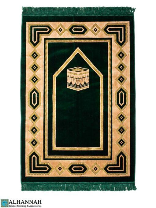Prayer Rug with Kaaba-Emerald