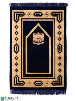 Prayer Rug Kaaba Design -Navy