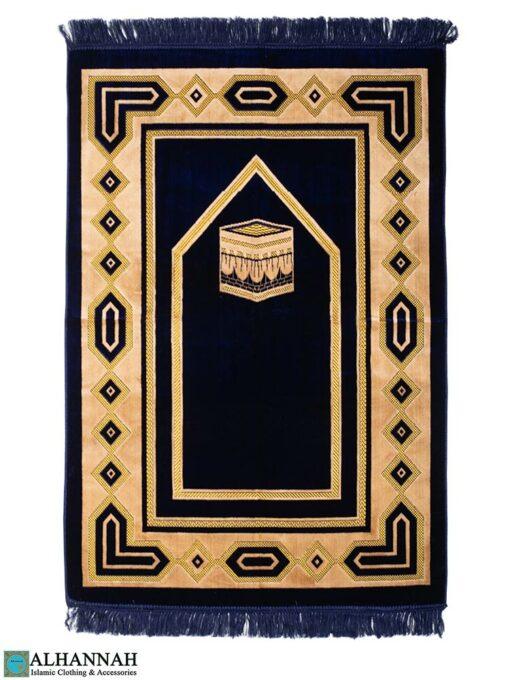Prayer Rug Kaaba Design -Navy