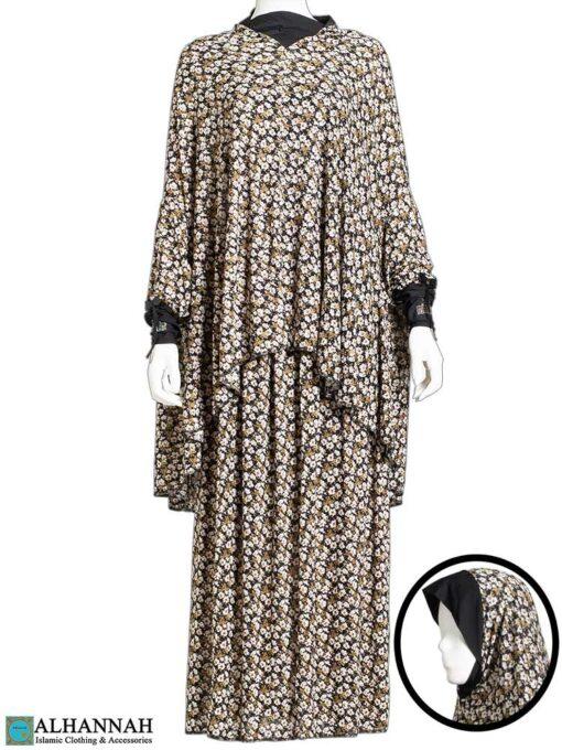 2 Piece Prayer Outfit Cotton Blossom Print