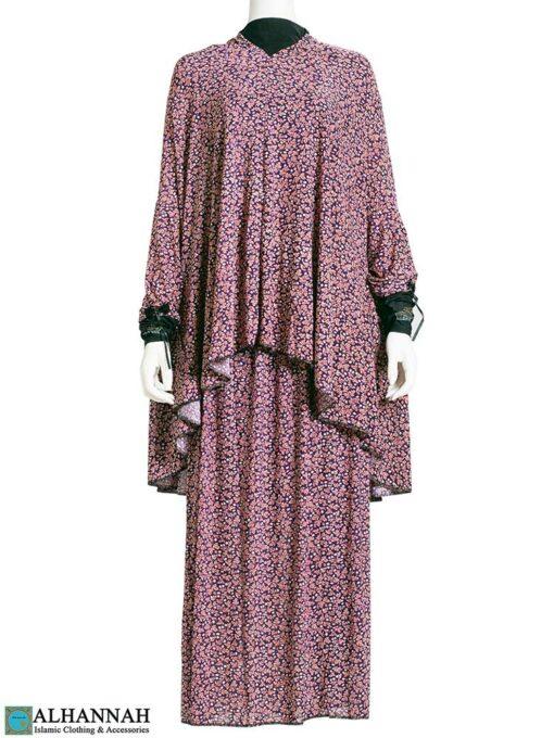2 Piece Prayer Outfit - Maroon Botanical 2