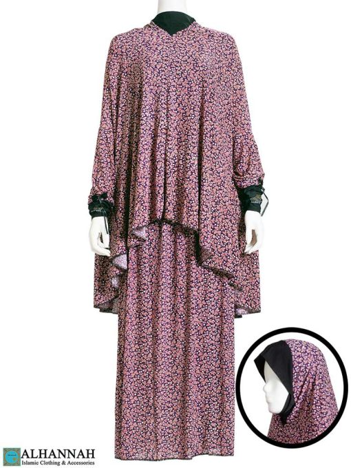 2 Piece Prayer Outfit - Maroon Botanical