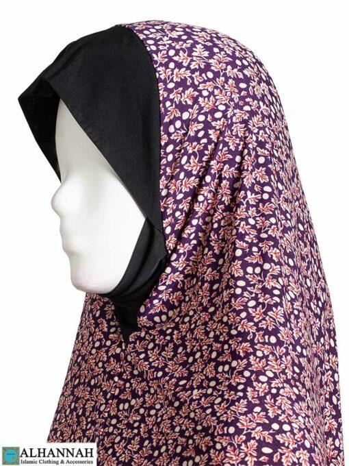 2 Piece Prayer Outfit - Maroon Botanical Close Up