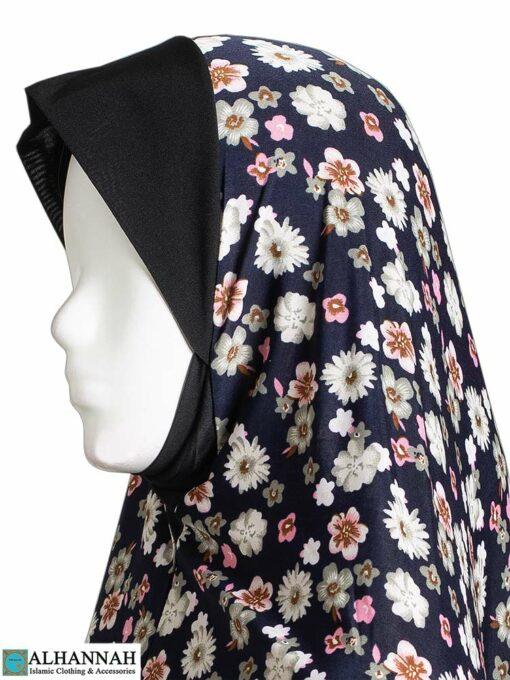 2 Piece Prayer Outfit Navy Bouquet Closeup