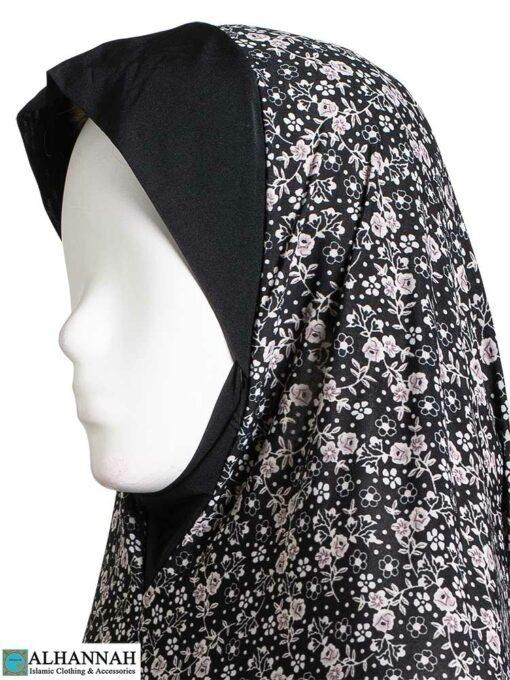 2 Piece Prayer Outfit Rose Blossom Print-Closeup