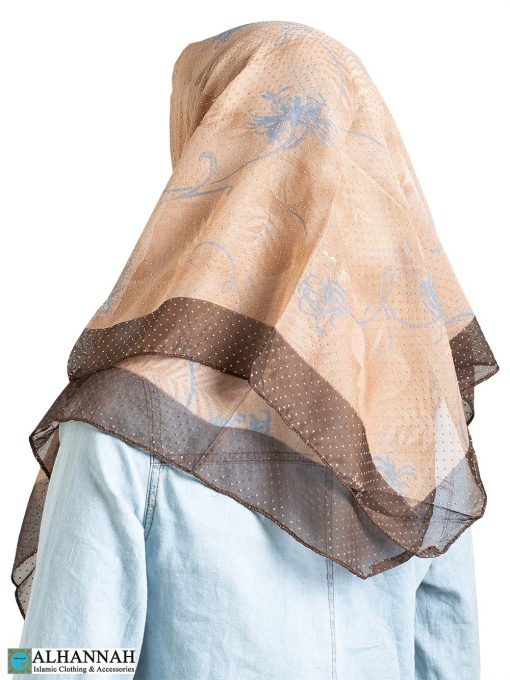 Abstract Dandelion Beaded Square Hijab hi2309
