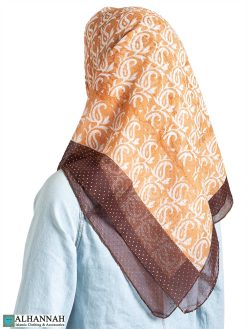 Abstract Tulip Beaded Square Hijab hi2310