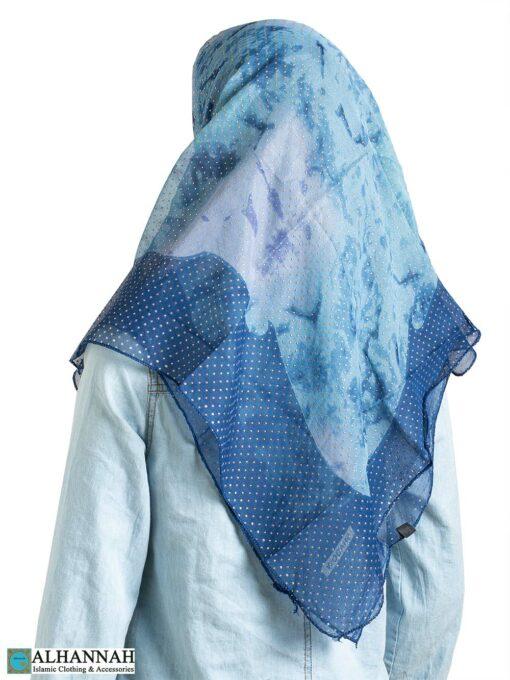 Arctic Breeze Beaded Square Hijab hi2314