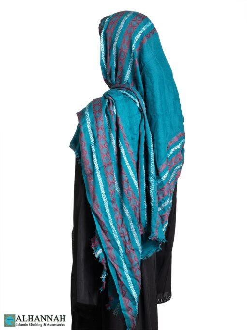 Aztec-Stripes Large Shayla Hijab hi2315