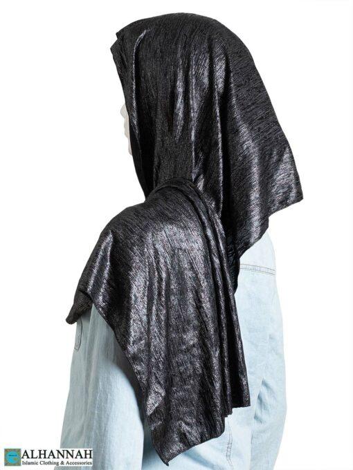 Black Glossy Shayla Hijab hi2316