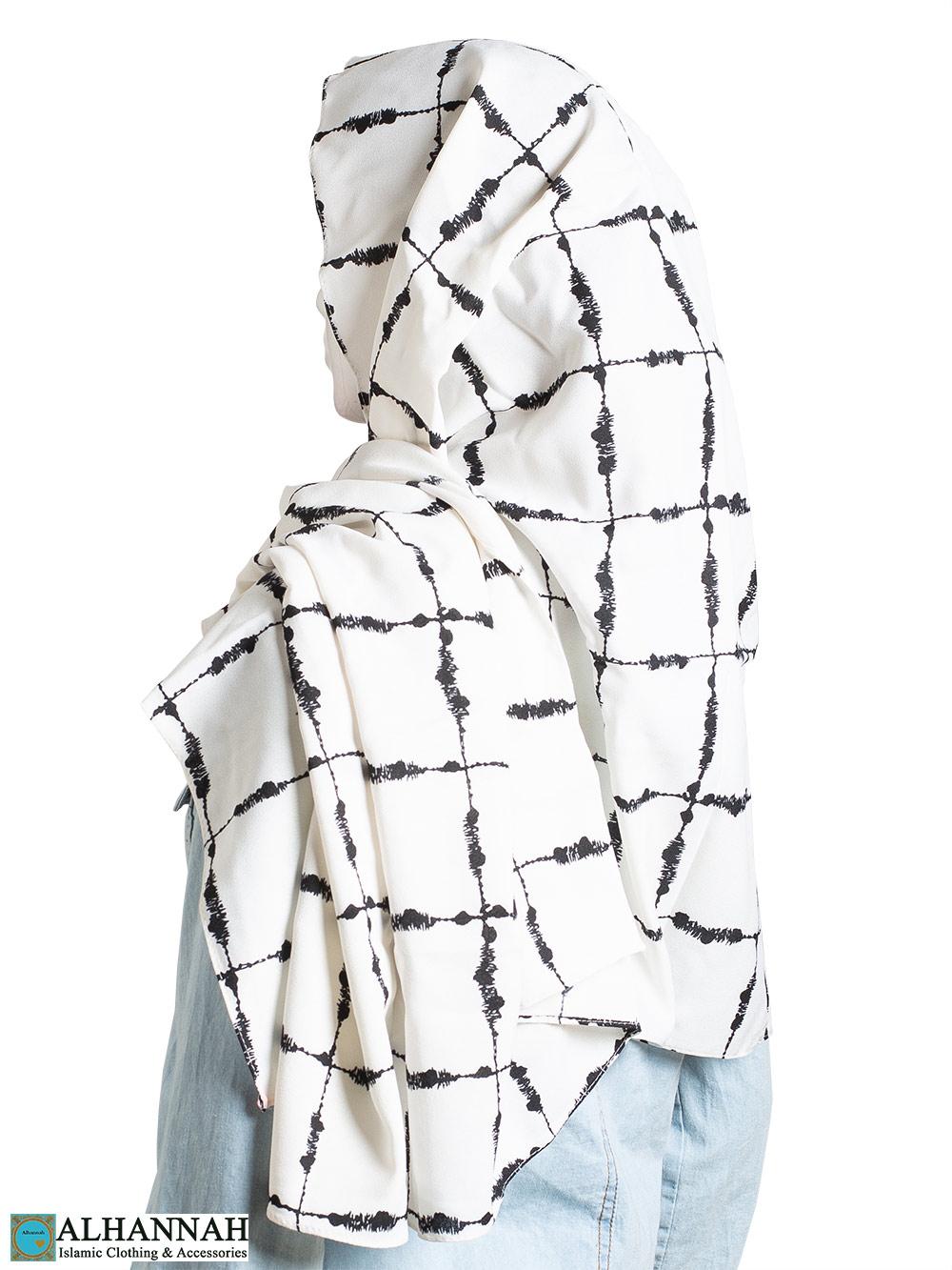 Black Painted Grid Shayla Hijab hi2305