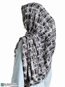 Black Painted Shayla Hijab hi2306