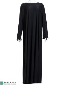 Black Stretch Abaya ab807 (2)