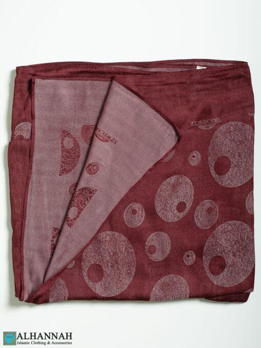 Circle Petals Reversible Square Hijab hi2317