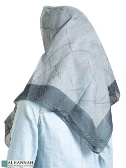 Cracked Ice Beaded Square Hijab hi2318