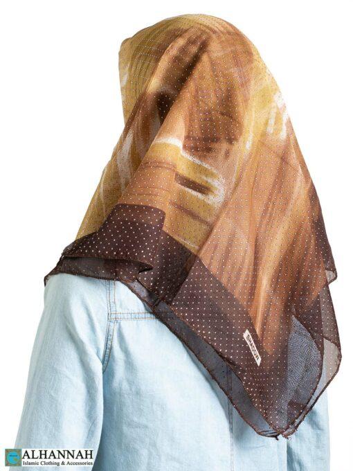Desert Dust Beaded Square Hijab hi2320