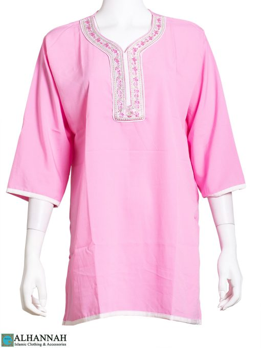 Embroidered Roses Pink Kurti st614