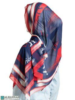 Fashion Print Rectangle Hijab hi2322