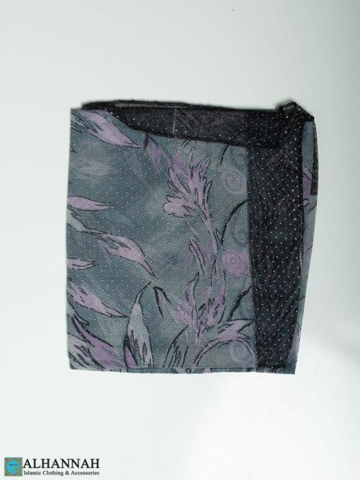 Floral Burst Beaded Square Hijab hi2323