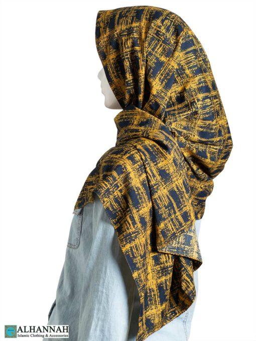 Golden Painted Shayla Hijab hi2307