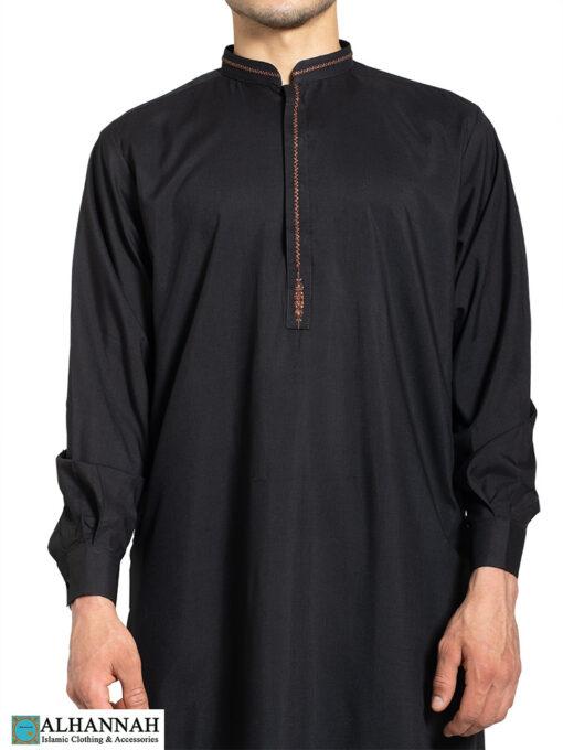 Huma Embroidered Black Salwar Kameez me812 (2)