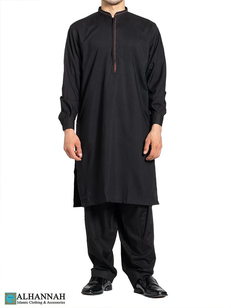 Huma Embroidered Black Salwar Kameez me812