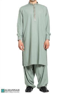 Huma Embroidered Green Salwar Kameez me809