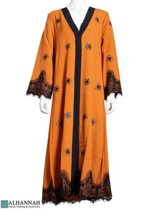 Lace-Trim-Abaya-in-Pumpkin ab813
