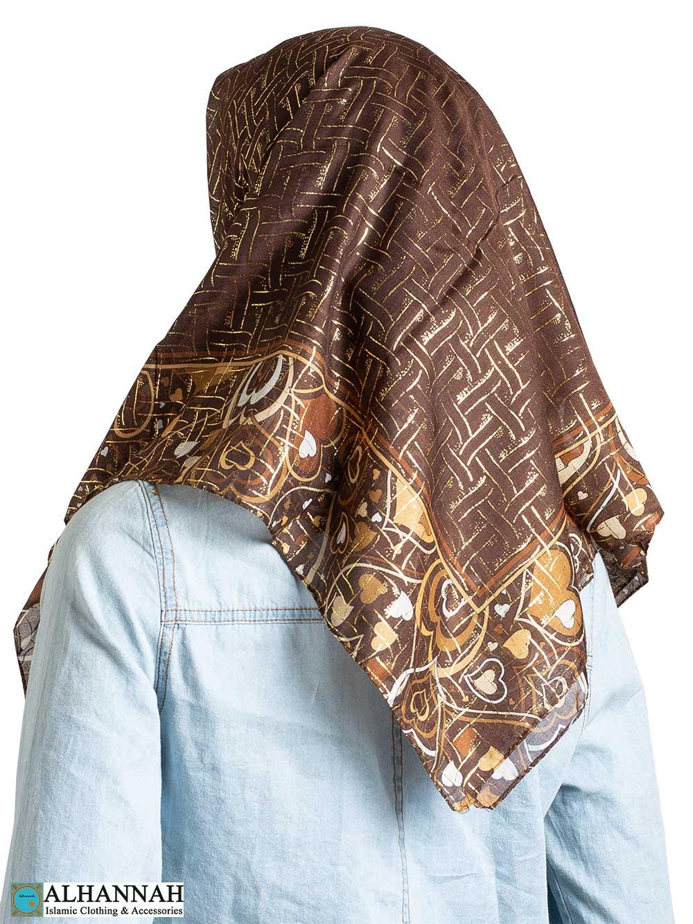 Lattice Heart Square Hijab hi2329
