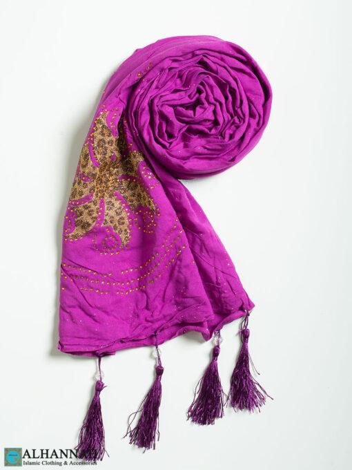 Leopard Floral Tasseled Shayla Hijab